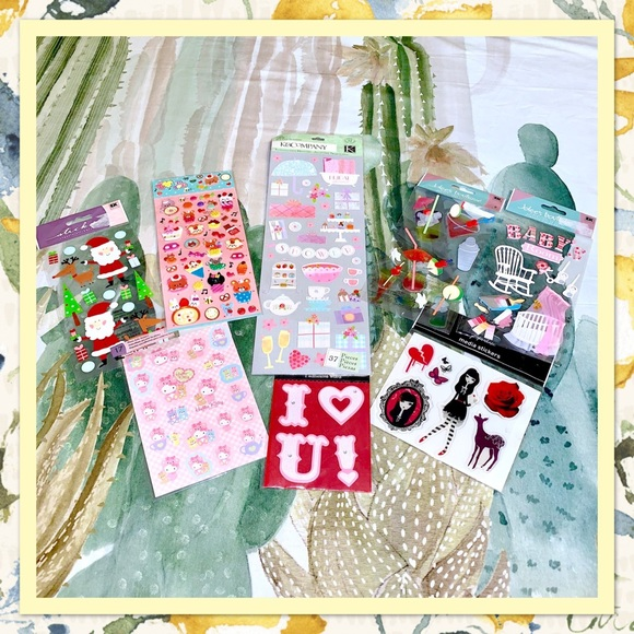 Jolee/'s Boutique Scrapbook Craft Sticker SEASONS GREETINGS Stockings